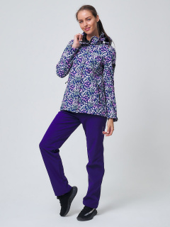 Женский осенний весенний костюм спортивный softshell синего цвета купить оптом в интернет магазине MTFORCE 02038S