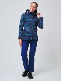 Женский осенний весенний костюм спортивный softshell темно-синего цвета купить оптом в интернет магазине MTFORCE 02038TS