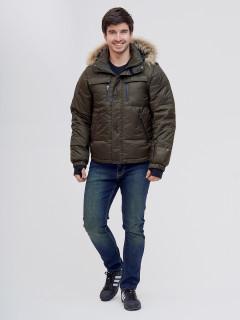 Купить оптом мужскую зимний куртку и безрукавку цвета хаки в интернет магазине MTFORCE 2064Kh