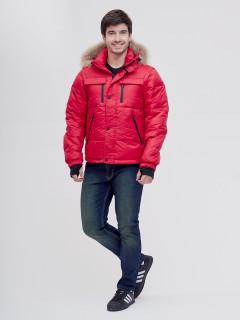 Купить оптом мужскую зимний куртку и безрукавку красного цвета в интернет магазине MTFORCE 2064Kr
