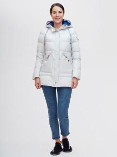 Купить оптом женскую зимнюю куртку светло-серого цвета в интернет магазине MTFORCE 2080SS