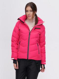 Купить оптом женскую зимнюю горнолыжную куртку розового цвета в интернет магазине MTFORCE 2081R