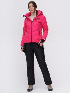 Костюм горнолыжный женский розового цвета купить оптом в интернет магазине MTFORCE 02081R