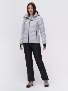 Костюм горнолыжный женский серого цвета купить оптом в интернет магазине MTFORCE 02081Sr