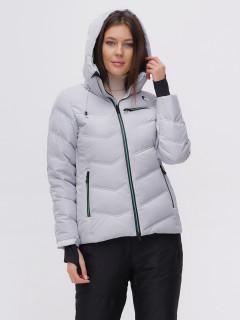 Купить оптом женскую зимнюю горнолыжную куртку серого цвета в интернет магазине MTFORCE 2081Sr