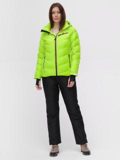 Костюм горнолыжный женский салатового цвета купить оптом в интернет магазине MTFORCE 02081Sl
