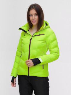 Купить оптом женскую зимнюю горнолыжную куртку салатового цвета в интернет магазине MTFORCE 2081Sl
