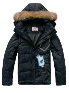 Купить оптом мужскую зимний пуховик черного цвета в интернет магазине MTFORCE 2084Ch