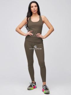 Спортивный костюм для фитнеса женский  розового цвета купить оптом в интернет магазине MTFORCE 21106Kh