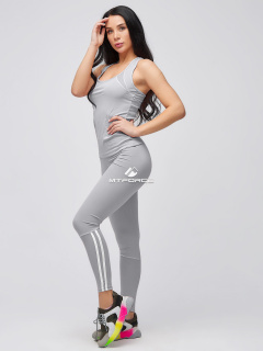 Спортивный костюм для фитнеса женский  розового цвета купить оптом в интернет магазине MTFORCE 21106Sr
