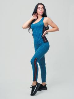 Женский всесезонный костюм для фитнеса синего цвета купить оптом в интернет магазине MTFORCE 21130S
