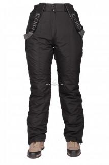 Купить оптом брюки горнолыжные женские черного цвета 211Ch в интернет магазине MTFORCE.RU