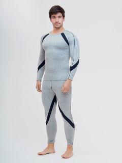 Термобелье мужское светло-серого цвета купить оптом в интернет магазине MTFORCE 2204SS