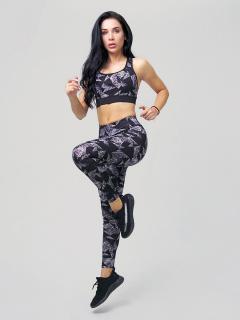 Женский всесезонный костюм для фитнеса серого цвета купить оптом в интернет магазине MTFORCE 212906Sr