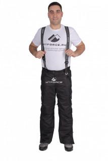 Купить оптом брюки горнолыжные мужские черного цвета 22015Ch в интернет магазине MTFORCE.RU
