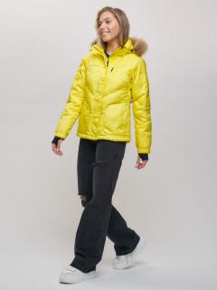 Купить оптом женскую зимний пуховик еврозима желтого цвета в интернет магазине MTFORCE 22107J