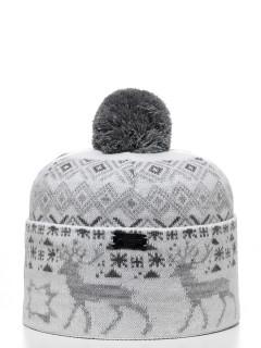 Купить оптом шапку серого цвета в интернет магазине MTFORCE 6006SS