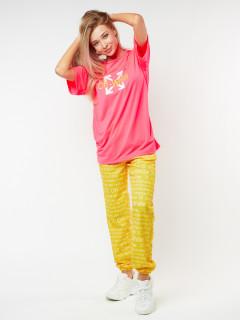 Купить костюм джоггеры с футболкой женские оптом от производителя в Москве 22109Bl