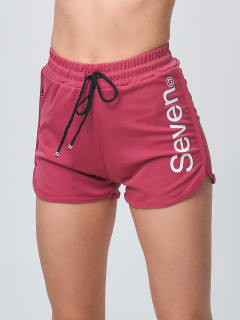 Спортивные шорты женские летние розового цвета купить оптом в интернет магазине MTFORCE 212308R