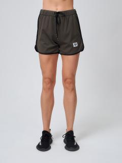 Спортивные шорты женские летние большого размера цвета хаки купить оптом в интернет магазине MTFORCE 212311Kh