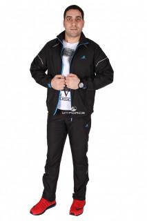 Купить оптом спортивный костюм мужской черного цвета 23128Ch в интернет магазине MTFORCE.RU