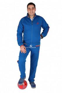 Купить оптом спортивный трикотажный костюм мужской синего цвета 231558S в интернет магазине MTFORCE.RU