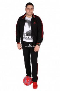 Купить оптом спортивный трикотажный костюм мужской черного цвета 231558Ch в интернет магазине MTFORCE.RU