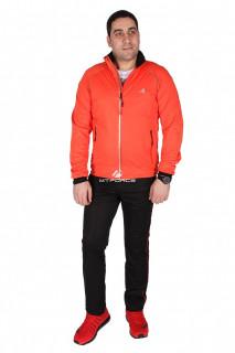 Купить оптом спортивный костюм мужской оранжевого цвета 23157O в интернет магазине MTFORCE.RU