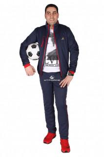 Купить оптом спортивный костюм мужской темно-синего цвета 23160TS в интернет магазине MTFORCE.RU