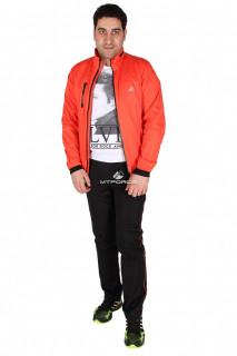 Купить оптом спортивный костюм мужской оранжевого цвета 23160O в интернет магазине MTFORCE.RU