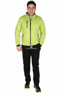 Купить оптом спортивный костюм мужской салатового цвета 23160Sl в интернет магазине MTFORCE.RU