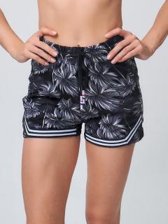 Спортивные шорты женские летние серого цвета купить оптом в интернет магазине MTFORCE 212331Sr