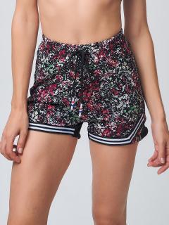 Спортивные шорты женские летние красного цвета купить оптом в интернет магазине MTFORCE 212331Kr