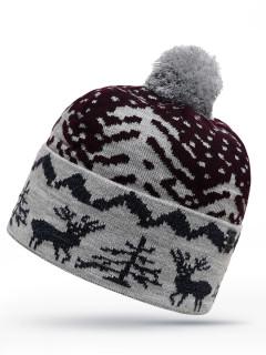 Купить оптом шапку серого цвета в интернет магазине MTFORCE 6034Sr