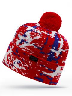 Купить оптом шапка красного цвета в интернет магазине MTFORCE 6017Kr