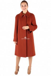 Купить оптом пальто женское коричневого цвета 265K в интернет магазине MTFORCE.RU