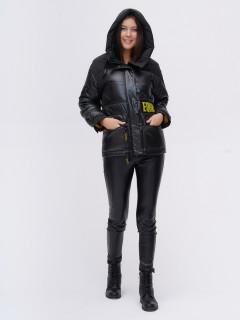 Купить оптом женскую зимнюю модную куртку болотного цвета в интернет магазине MTFORCE 22285Bt