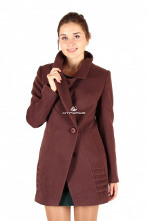 Купить оптом пальто женское коричневого цвета 286K в интернет магазине MTFORCE.RU