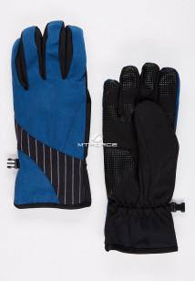 Купить оптом перчатки мужские для активного отдыха синего цвета 3131S в интернет магазине MTFORCE.RU