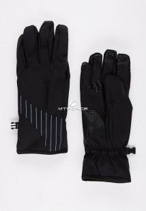 Купить оптом перчатки мужские для активного отдыха черного цвета 3131Ch в интернет магазине MTFORCE.RU