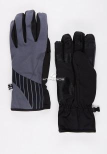Купить оптом перчатки мужские для активного отдыха серого цвета 3131Sr в интернет магазине MTFORCE.RU