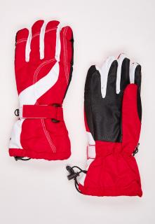 Купить оптом перчатки женские горнолыжные красного цвета 315Kr в интернет магазине MTFORCE.RU