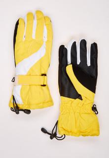 Купить оптом перчатки женские горнолыжные желтого цвета 315J в интернет магазине MTFORCE.RU