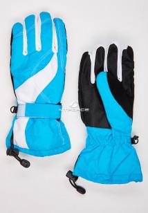 Купить оптом перчатки женские горнолыжные голубого цвета 315Gl в интернет магазине MTFORCE.RU