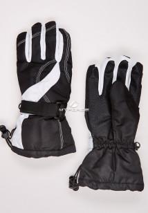 Купить оптом перчатки женские горнолыжные черного цвета 315Ch в интернет магазине MTFORCE.RU
