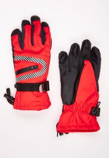Купить оптом перчатки горнолыжные подростковые для мальчика оранжевого цвета 317O в интернет магазине MTFORCE.RU