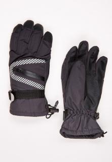 Купить оптом перчатки горнолыжные подростковые для мальчика черного цвета 317Ch в интернет магазине MTFORCE.RU