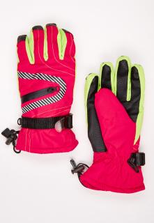 Купить оптом перчатки горнолыжные подростковые для мальчика красного цвета 317Kr в интернет магазине MTFORCE.RU