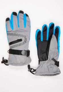 Купить оптом перчатки горнолыжные подростковые для мальчика серого цвета 317Sr в интернет магазине MTFORCE.RU