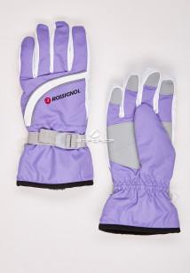 Купить оптом перчатки женские горнолыжные фиолетового цвета 319F в интернет магазине MTFORCE.RU
